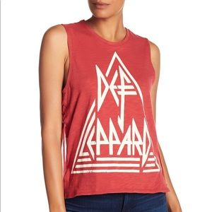 Lucky Brand Def Leppard Sleeveless Tee - Size Med